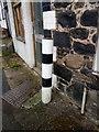 SH6874 : A black/white striped pole on Mill Road, Llanfairfechan by Meirion