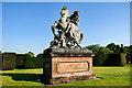 SJ4160 : Equestrian Statue in Eaton Hall Gardens by Jeff Buck