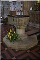 SO7745 : Great Malvern Priory: The Font by Bob Harvey