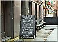 J3374 : Restaurant blackboard, Belfast (October 2019) by Albert Bridge