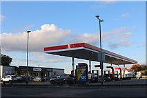 TQ6670 : Esso petrol station on Watling Street, Cobham by David Howard
