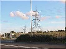 TQ6272 : Pylons by the A2, Southfleet by David Howard