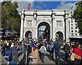 TQ2780 : Marble Arch before The People's March by Neil Theasby