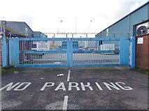 J1418 : Harbour Gate at the Port of Warrenpoint by Eric Jones