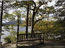 NY2622 : A Seat by Friar's Crag Keswick by Jennifer Petrie