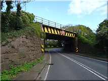 SO6913 : Railway bridge over the A48, Broadoak by JThomas