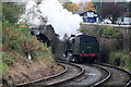 SD8610 : East Lancashire Railway - backing on at Heywood by Chris Allen