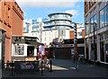 SU1584 : P&D Street Cafe by St Aldhelm's Chapel by Steve Daniels