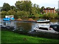 SO8540 : Gravel barge on the Rivern Severn by Philip Halling