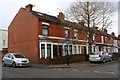 SP3380 : Newland Road houses at Leicester Causeway junction by Luke Shaw