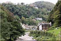 SS7249 : Looking down the East Lyn towards Lynmouth & Hollerday Hill by Martin Tester