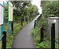ST1880 : Ascent towards Heath High Level station, Cardiff by Jaggery