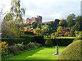 SJ2106 : A sundial in the formal gardens, Powis Castle by Robin Drayton