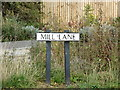 TL7720 : Mill Lane sign by Geographer