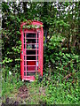 SN7811 : Red phonebox in Cwmgiedd, Powys by Jaggery