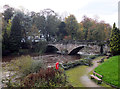 SE3556 : River Nidd at the Low Bridge, Knaresborough by habiloid
