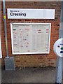 TL7720 : Cressing Railway Station sign & Network Map by Adrian Cable