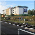 SJ3250 : Premier Inn, Jacques Way, Wrexham by Jaggery