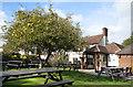 TQ0087 : Beer Garden at The Apple Tree by Des Blenkinsopp