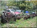 ST4764 : Relics outside Lemon Park Farm by Neil Owen