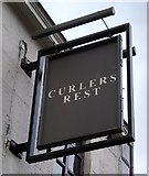 NS5667 : Sign for Curlers Rest by Richard Sutcliffe