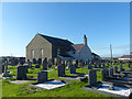 SH3970 : Churchyard, Bethel, Anglesey by Robin Drayton