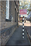 TQ7569 : Sign on Tinker's Alley, Chatham Dockyard by David Howard