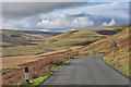 SN9071 : Mountain road dropping into the Elan valley by Nigel Brown