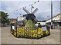 SD3627 : Lytham in Bloom Windmill by Gerald England