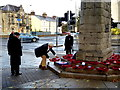 H4572 : Laying a wreath, The Cenotaph, Omagh by Kenneth  Allen