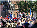 SD7807 : Wreath Laying at Radcliffe Cenotaph by David Dixon