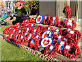 SD7807 : Poppy Wreaths at Radcliffe Cenotaph by David Dixon