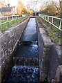SJ7659 : Cascade at lock 62, Trent and Mersey Canal by Stephen Craven