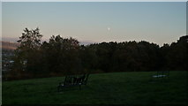 SO5074 : Moon at Whitcliffe Common (Ludlow) by Fabian Musto