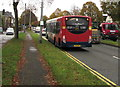 ST1580 : X4 bus on the A470, Whitchurch, Cardiff by Jaggery