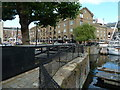 TQ3480 : St Katharine Docks - Telford footbridge by Chris Allen