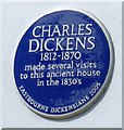 TV5999 : Blue Plaque: Charles Dickens by Gerald England