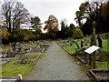SO4593 : Path through Cunnery Road Cemetery, Church Stretton by Jaggery