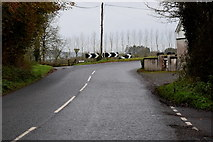 H4963 : Sharp bend along Moylagh Road by Kenneth  Allen