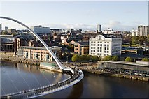 NZ2564 : Millennium Bridge and Malmaison Hotel viewed from the Baltic Centre by Mark Anderson