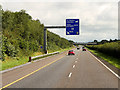 R5451 : Northbound M20, Overhead Sign at Junction 3 (Raheen) by David Dixon