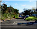 SN4221 : Entrance road to A&E at Glangwili General Hospital, Carmarthen by Jaggery