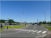 NS5566 : Zebra crossing, Pointhouse Place by Stephen Craven