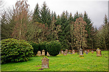 NH4943 : A section of the Kilmorack Burial Ground by Julian Paren