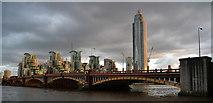TQ3078 : Vauxhall Bridge and Saint George Wharf by habiloid