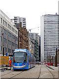 SP0686 : Tram on Paradise Street in Birmingham by Roger  Kidd