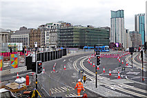 SP0686 : View south-east from Centenary Square in Birmingham by Roger  Kidd
