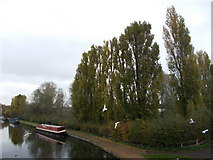 TQ1281 : Canal view from a footbridge by Peter S