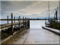 SD3541 : Jetty and Slipway at Blackpool and Fleetwood Yacht Club by David Dixon