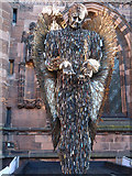 SJ4066 : The Knife Angel at Chester Cathedral - 3 by John S Turner